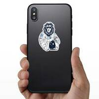 Lion Astronaut on a Phone example