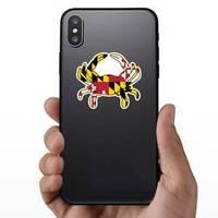 Maryland Flag Crab Illustration Sticker