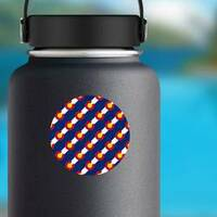 Colorado Flag, Seamless Pattern Sticker on a Water Bottle example