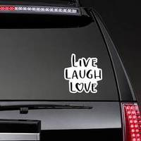 Live, Laugh, Love Modern Calligraphy Heart Letter Sticker example