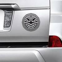 Traditional Maori Taniwha Tattoo Sticker on a Car Bumper example