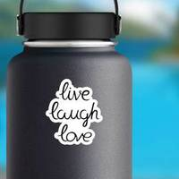 Live Laugh Love Calligraphy Hand Drawn Sticker