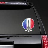 Eiffel Tower On Flag Of France Sticker example