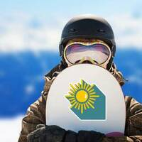 Sun with Shadow Sticker on a Snowboard example