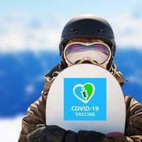 I Got My Covid-19 Vaccine Heart Shot Sticker example