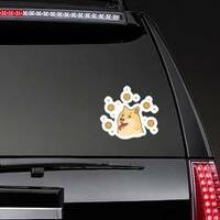 Doge Coin Illustration Sticker on a Rear Car Window example