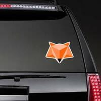 Simple Polygon Fox head Sticker on a Rear Car Window example