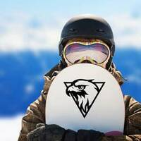 Eagle Head Logo Sticker on a Snowboard example