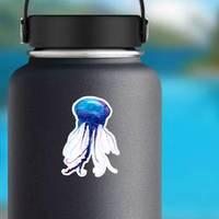 Jellyfish Watercolor Illustration Medusa Painting Sticker