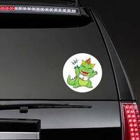 Little Baby Dragon Sticker on a Rear Car Window example