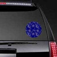 Linear Stingray On Navy Blue Backdrop Pattern Sticker