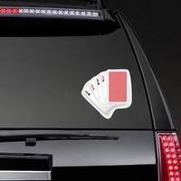 Four Aces In Five Card Poker Hand Playing Cards Sticker example