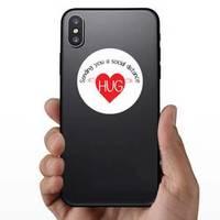 Social Distance Hug Sticker
