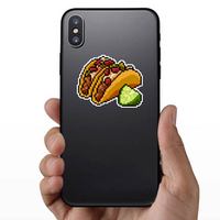 8-Bit Pixel Art Taco Sticker