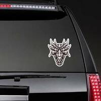 Monster Dragon Head Sticker on a Rear Car Window example