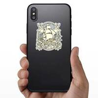 Ship And Sailor Courage Illustration Sticker example
