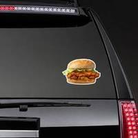 Crispy Cheesy Chicken Patty Burger Sticker example