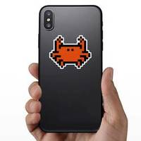 Pixel Art Crab Sticker