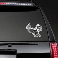 Eagle Emblem Sticker on a Rear Car Window example