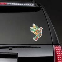 Zentangle Bird Hippie Sticker on a Rear Car Window example