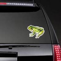 Sketch Watercolor Green Frog Sticker