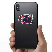 Dragon Mascot Sticker on a Phone example