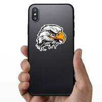 Bald Eagle Head Mascot Sticker on a Phone example