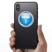 Blue Medical Button Sticker