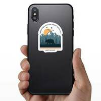 Make Time For The Great Outdoors Sticker on a Phone example
