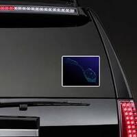 Wine Glass Star Sticker on a Rear Car Window example