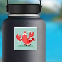 Shrimp Cartoon Sticker