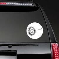 Archery Target With Arrow Sketch Sticker example