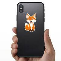 Fox Cartoon Sticker on a Phone example