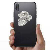 Asian Woman and Dragon Sticker on a Phone example