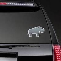 Safari Rhino Icon Cartoon Sticker example