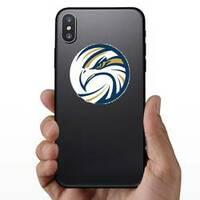 Circle Eagle Logo Sticker on a Phone example