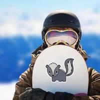 Cute Skunk Kawaii Illustration Design Sticker