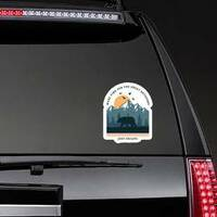Make Time For The Great Outdoors Sticker on a Rear Car Window example