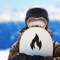 Hot Flame Fire Sticker