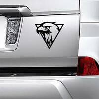 Eagle Head Logo Sticker on a Car Bumper example