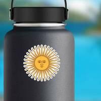 Inca Sun God Sticker on a Water Bottle example