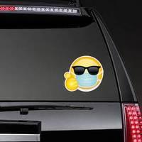 Emoji with a Mask Sticker