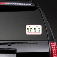 Social Distancing Example Sticker