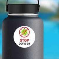 Stop Covid Germ Graphic Sticker