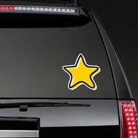 Doodle Star Sticker on a Rear Car Window example