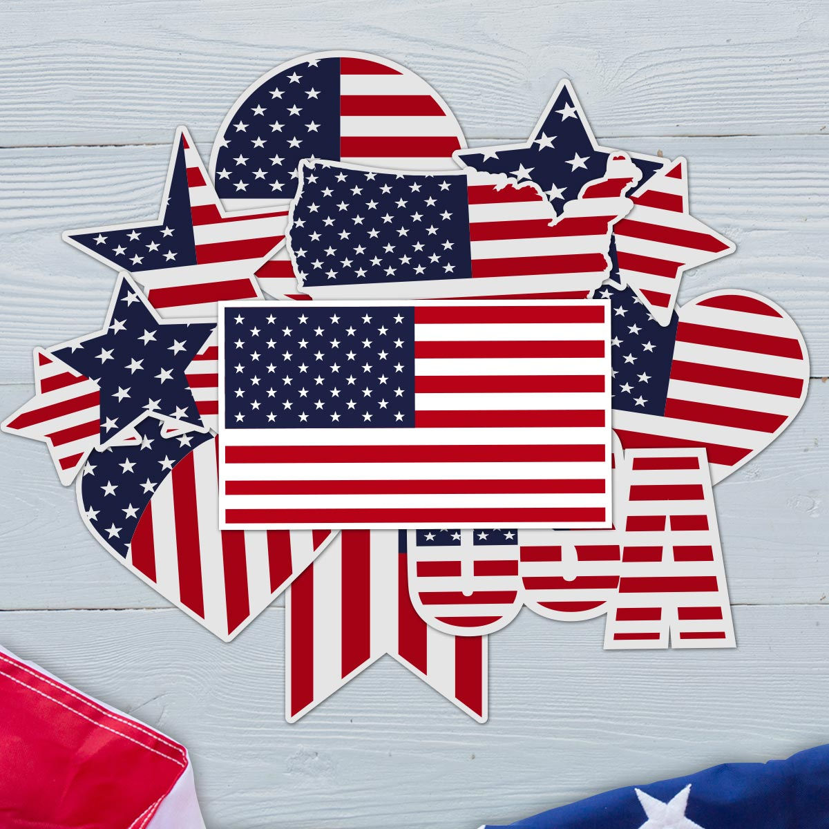 Stars and Stripes - USA Flag Sticker Bundle 2