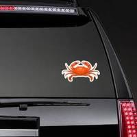 Crab Illustration Isolated On White Sticker