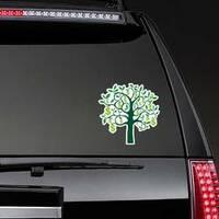 Illustration of Dollar Sign Money Tree Sticker on a Rear Car Window example