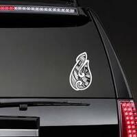 Maori Ethnic Style Fish Hook Tattoo Sticker on a Rear Car Window example