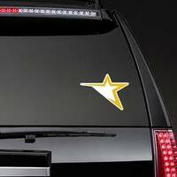 Abstract Star Vector Sticker on a Rear Car Window example